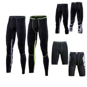 Men-039-s-Workout-Compression-3-4-Pants-Running-Basketball-Shorts-Dri-fit-Sportswear