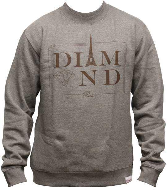 Diamond Supply Co Paris Sweatshirt Grau