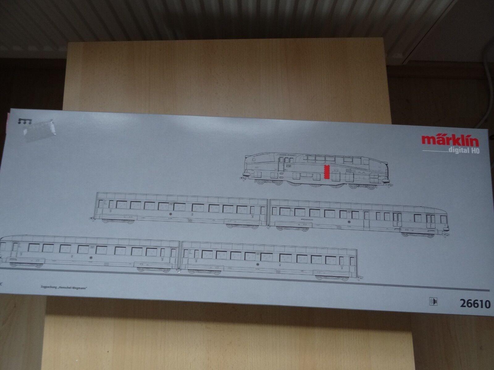 Marklin ho Art 26610 zugpackung Henschel Wegmann OVP como nuevo