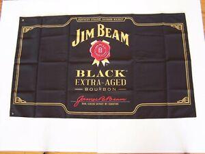 100x60cm-JIM-BEAM-BLACK-EXTRA-AGED-BOURBON-PROMOTIONAL-FLAG-CAPE-MAN-CAVE-BAR