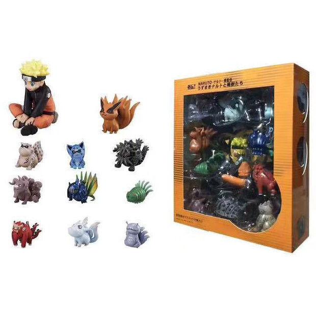 11pcs//set Anime Q Version Naruto Akatsuki Action Figure Toys model figures doll