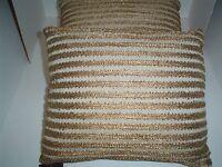 Envogue Home Pair (2) Sorento Pillows 11 X 14 Antique Gold