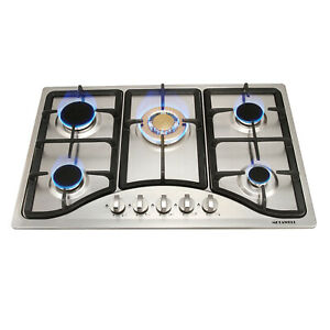 """Brand New,30/""""Stainless Steel Cooktop Built-in 5 Burners Stove NG//LPG Gas Hob"""