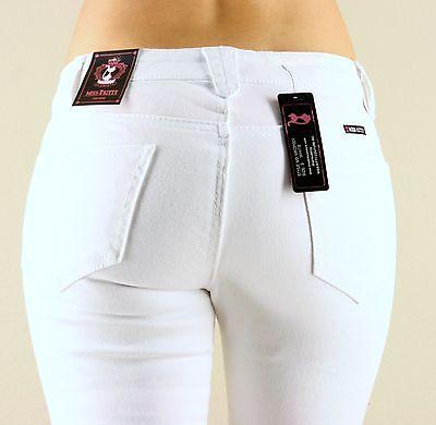 Miss Kitty BLACK WHITE Skinny Slim Pants Denim Jeans 1-13
