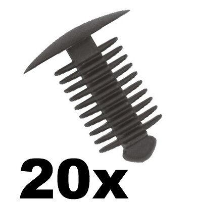 10x Black Plastic Fir Tree Trim Clips 10mm Hole 22mm Head Fastener Push Button