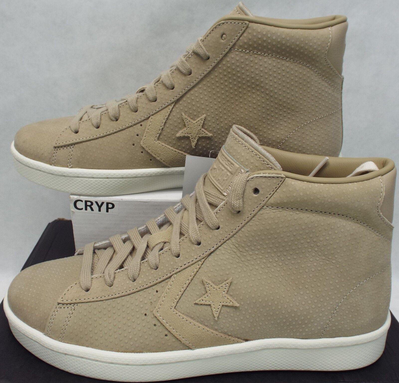 Mens 10.5 Converse PL 76 Mid Star Player Vintage Khaki Leather shoes 155648C  80