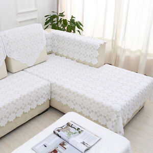 Image Is Loading Simple Style Lace Floral Pattern Slipcovers Couch Sofa