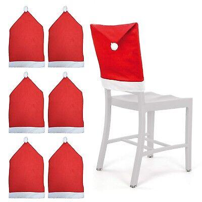 Set da 2 ad 8 copri sedia natalizio coprisedia decorazioni per sedie natalizie