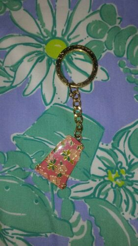 Lilly Pulitzer Key Chain Pink and Green Dress FC