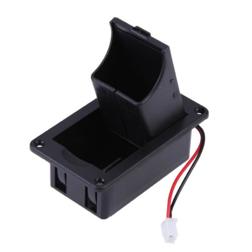1pc ABS 9V Battery Box Case Cover Accessories Replacement Black Wires With