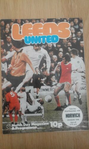 Leeds United v Norwich City 1973 Football Programme
