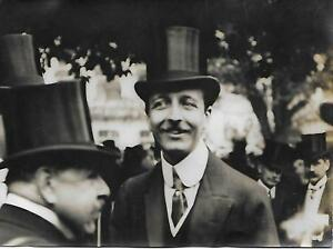 Photo-Baron-De-ROTHSCHILD-Hippisme-VERDUN-gagnant-du-Gd-Prix-de-Paris-1909