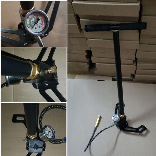 3 Stage Stirrup Air Rifle PCP Hand Pump Airgun 4500psi Charging High Pressure UK