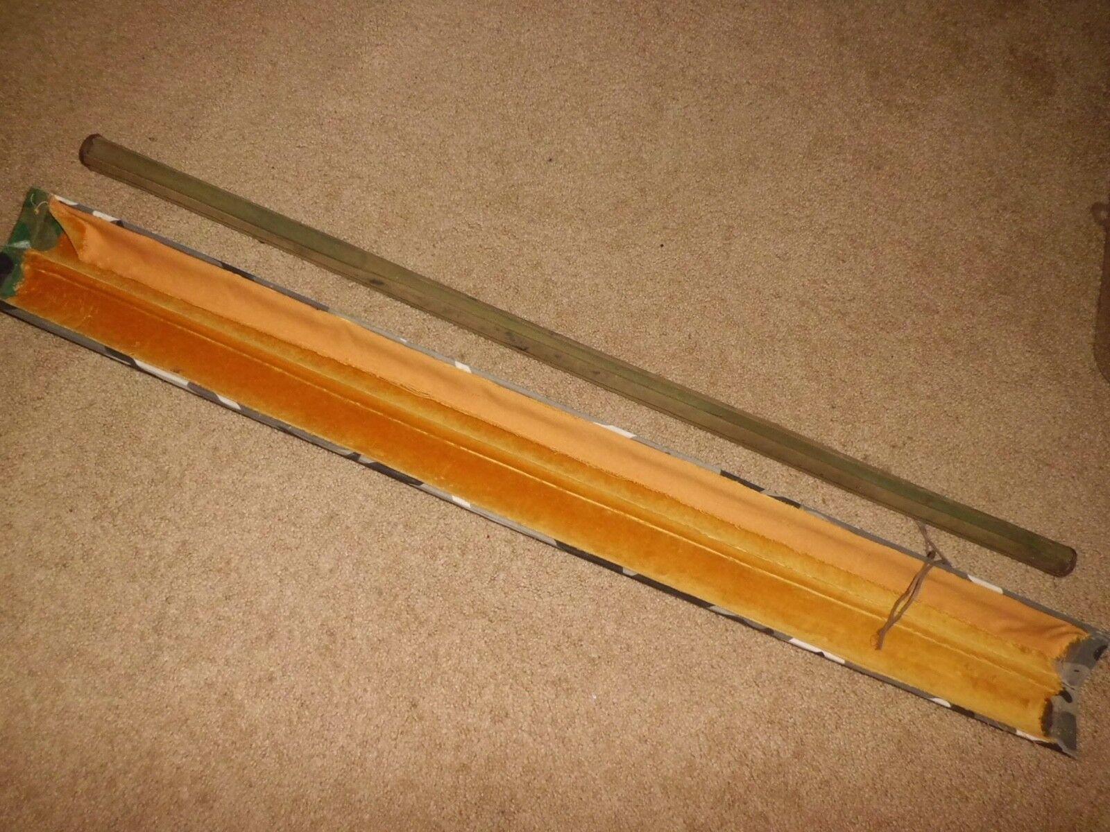 Vintage  Case & Holder for Vintage Split Bamboo 4 pc Fly Rod  fantastic quality