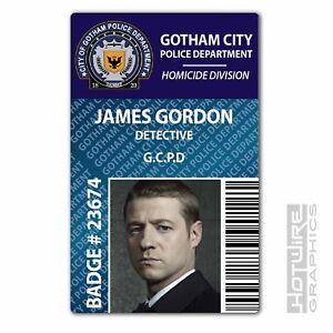Series Gcpd Detective 620444489669 Ebay Gordon James Id City Police Gotham Card - tv Prop Plastic