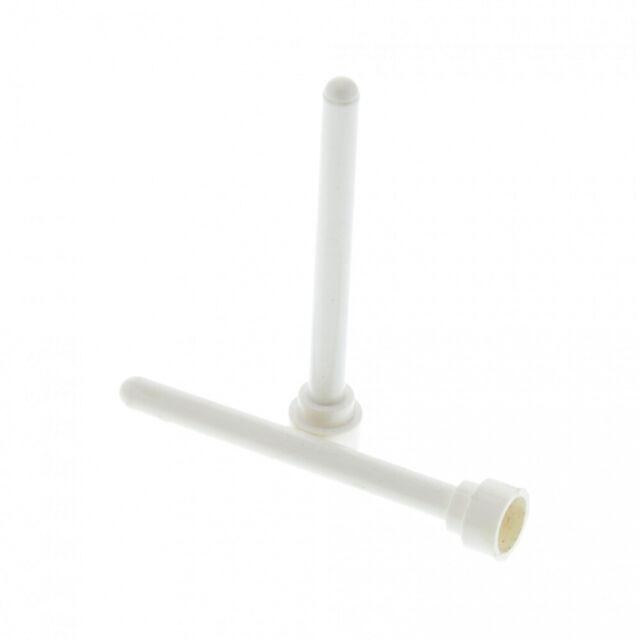 Stab 1x4 runder Kopf weiß 5 Stück # 3957 Lego Antenne