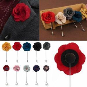 Men-039-s-Handmade-Pearl-Flowers-Lapel-Brooch-Pin-Suit-Tuxedo-Wedding-Boutonniere
