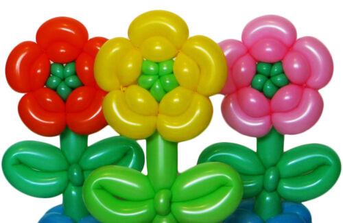 2 FREE Pump 60 Mixed Color Magic Long Animal Tying Making Twist Latex Balloons