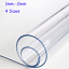 Soft Glass PVC Table Protector Cover Mat Tablecloth Desktop Rectangle Waterproof