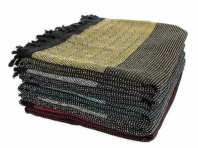 Colourful Turkish Queen size bedspread bed cover sofa throw 220x240cm