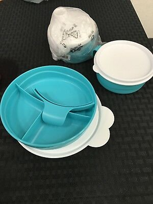 Tupperware Baby Stages Feeding Set 3 Piece Teal Brand