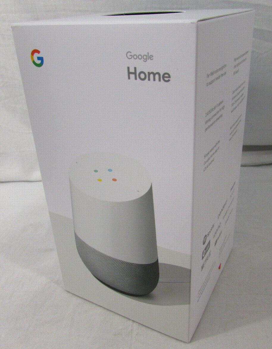 NIB Google Home (GA3A00417A14) Smart Home Assistant Speaker - White Slate