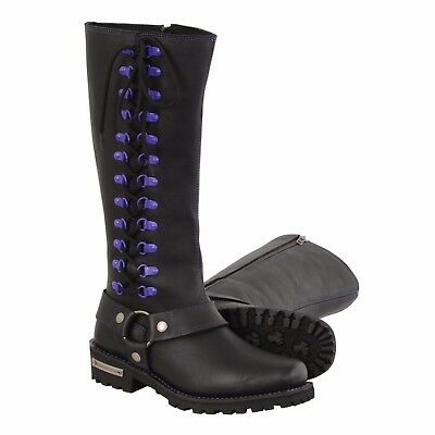 Milwaukee Leather Womens Lace Front Boot Black, 7