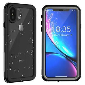 hot sale online 94dc1 0692c Details about For iphone X Xs Max Waterproof Case Cover Underwater  Shockproof Screen Protector