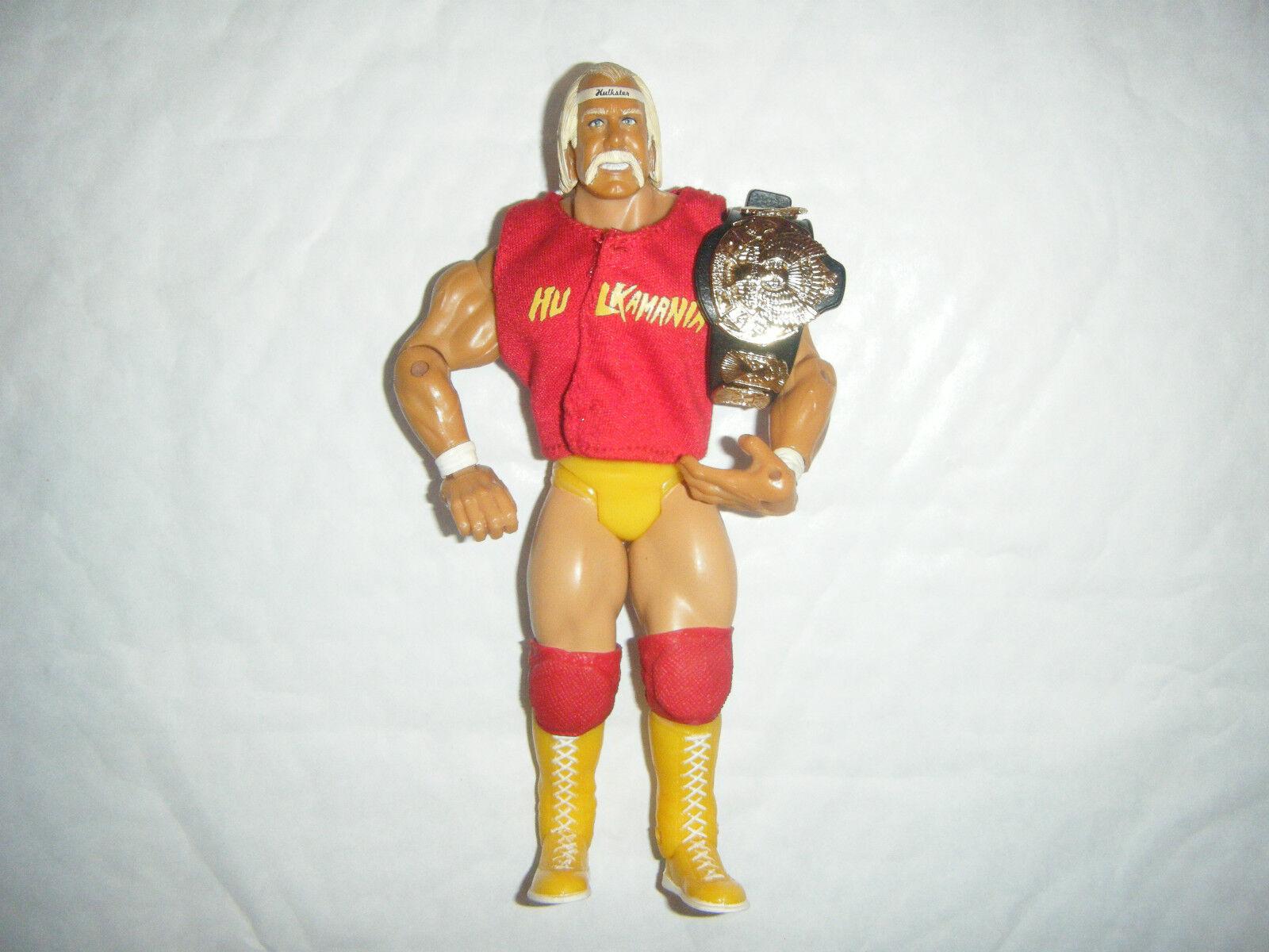 Hulk Hogan & Zubehör Shirt Klassisch Serie 8 Gürtel Aktion Wrestling-Figur Wwe