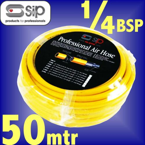 SIP 07884 Profesional 3//8 manguera de aire de taller Reforzado 50m 1//4 BSP línea aérea
