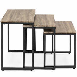 Tremendous Details About 3 Pcs Brown Black Modern Stackable Coffee Side Table Living Room Furniture Set Inzonedesignstudio Interior Chair Design Inzonedesignstudiocom