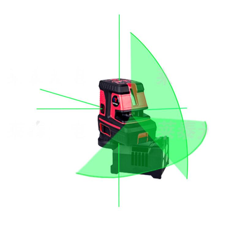 Leter laser green niveau d'auto spot ligne afin croix 5dots niveau laser, 1V, 1H