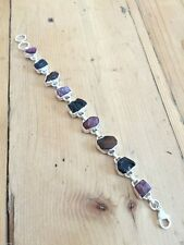 TOURMALINE BRACELET 925 SOLID STIRLING SILVER GEMSTONE GIFT BOXED JEWELLERY