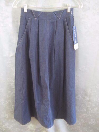 VTG 70's 80's Sasson Denim Skirt Size 6 NWT Long M