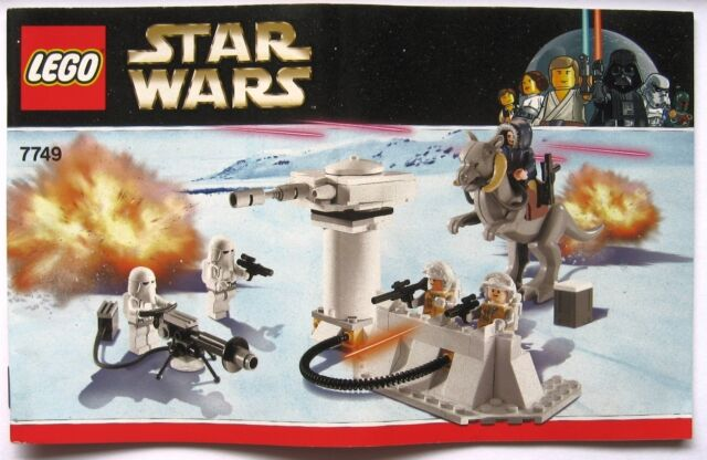 Lego Star Wars Set 7749 Instruction Manual Only For Echo Base