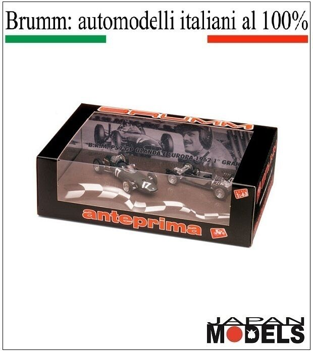 B.R.M P57 GP Olanda e Europa 1962 1° Graham Hill A004 Brumm 1 43 New Nuovo