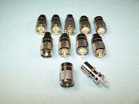 10 Amphenol Pl-259 Coax Connectors - 083-1sp-15rfx - Brand