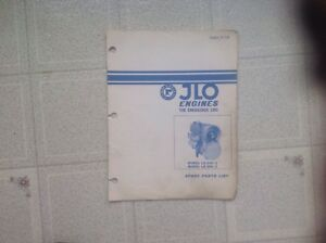 1971  JLO ENGINE  LR-340/2 & LR-399/2  SPARE PARTS MANUAL TP- 7726