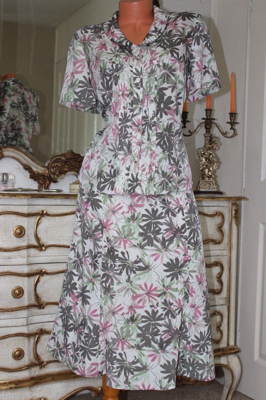 (Ref 1) EASTEX Ladies 2 Piece Set Skirt & Blouse Top Size 14