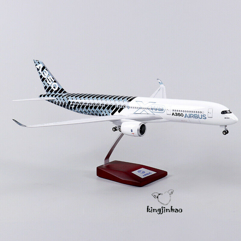 Scale 1 144 Airbus A350 Aircraft Model Airliner Assemblies  With Wheels & Lights