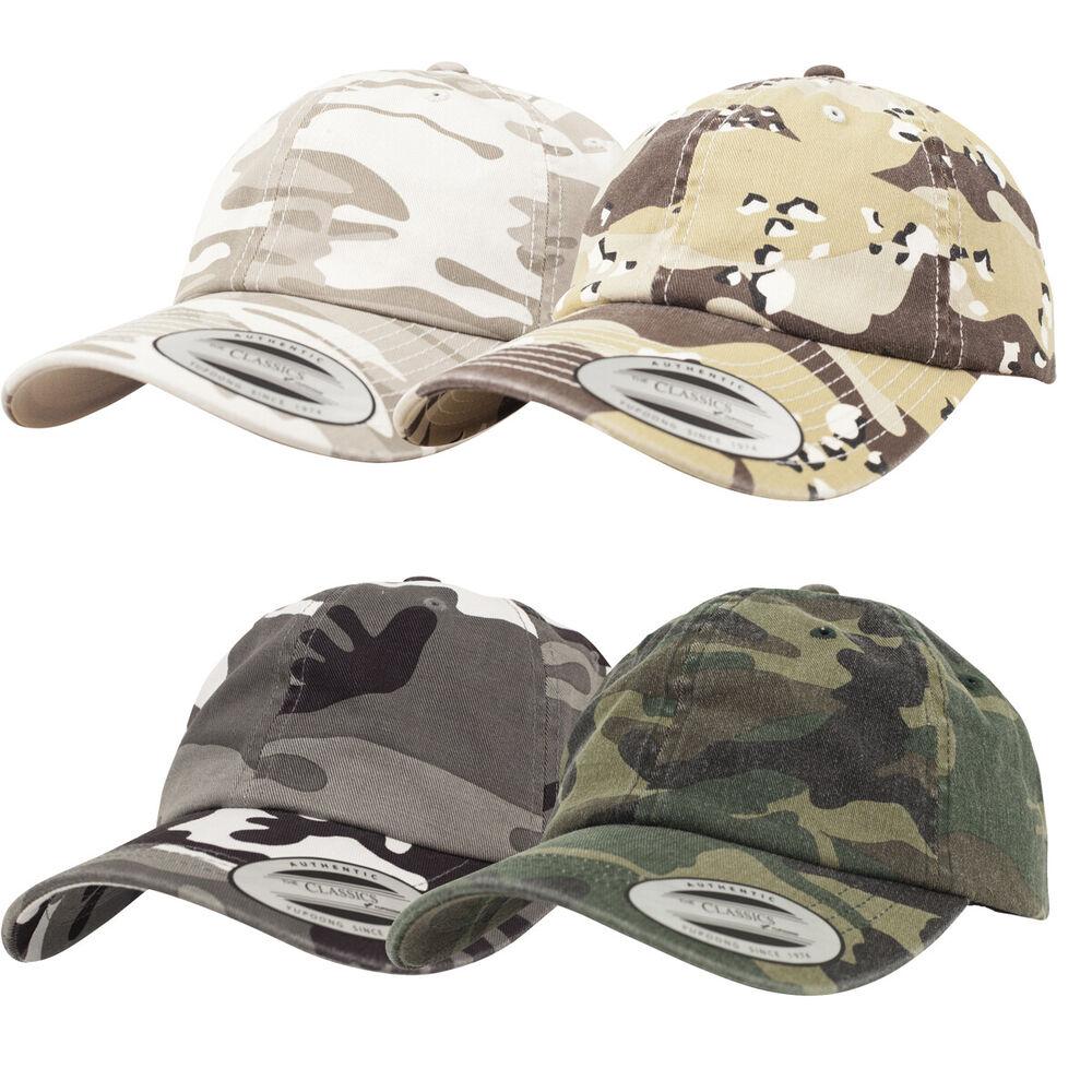 2019 DernièRe Conception Flexfit Low Profile Camo Washed Cap Coat Parapluie Bonnet Basecap Curved Visor Casquette Pour Assurer Une Transmission En Douceur