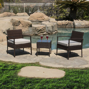 3-PCS-Cushioned-Outdoor-Wicker-Patio-Set-Garden-Lawn-Sofa-Furniture-Seat-Brown