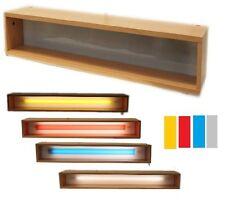 Vitrine Hängeschrank Lichtschrank Wandschrank mit Licht und 3 Farben CD120 Buche
