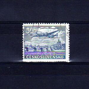 TCHECOSLOVAQUIE-Poste-Aerienne-n-27-oblitere