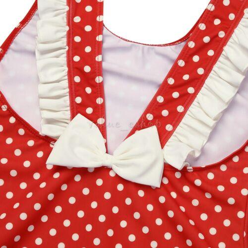 Toddler Kids Girls Swimwear Polka Dot Swimwear Beach Tankini Bikini Bathing Suit
