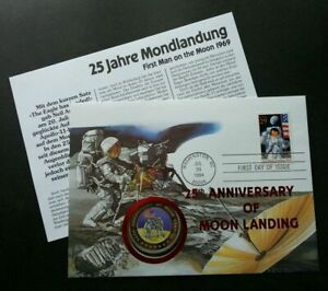[SJ] USA 25th Anniv Of Moon Landing 1994 Space Astronomy FDC (coin cover)