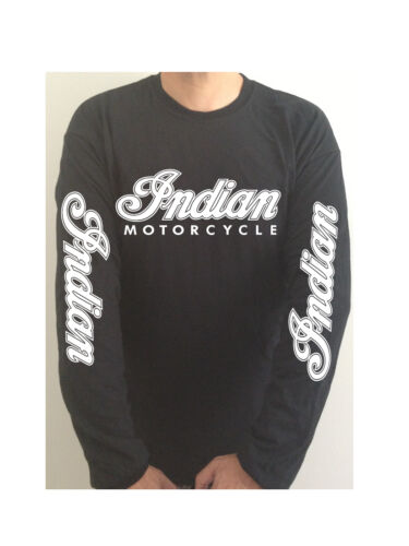 INDIAN MOTORCYCLE SLEEVE PRINT tshirt SEE BOTH PHOTOS