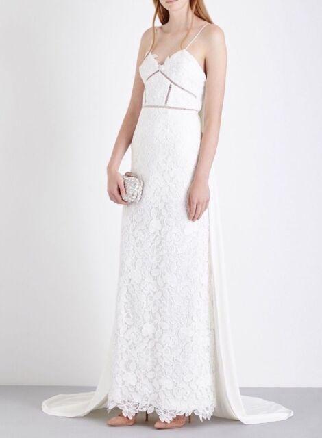 Self-Portrait Angelica Guipure-lace Wedding Dress Size UK 6 | eBay