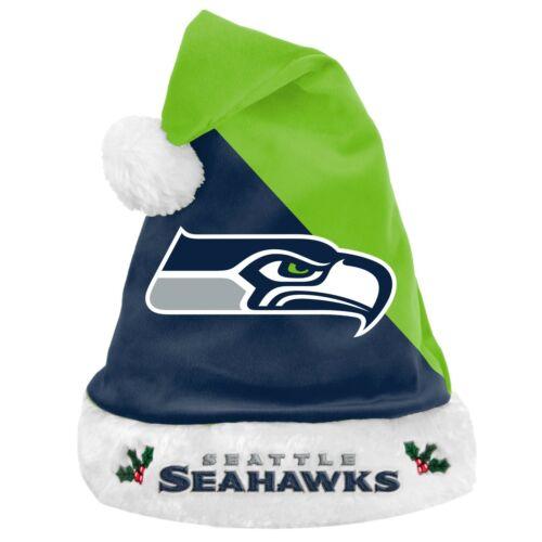 NFL Seattle Seahawks Santa Claus Hat Mütze Weihnachtsmann Christmas Football