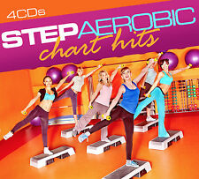 CD Step Aerobic Chart Hits von Various Artists 4CDs